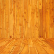 Wood room with panel and floor — Stock Photo #11948567