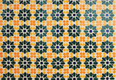 Texture of Arabic tile — Stock Photo
