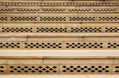 Close up of carved stairs — Stock Photo