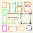 Hand drawn  photo frames — Stock Vector