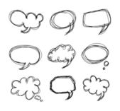 Hand drawing speech bubbles cartoon doodle — Stock Vector