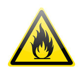 Fire warning sign — Stock Vector