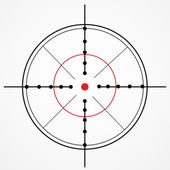 Crosshair with red dot — Stock Vector