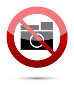No photograph sign — Stock Vector