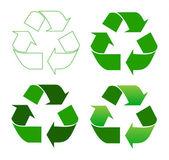 Reciclaje signo — Vector de stock