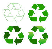 Recycle sign — Vector de stock
