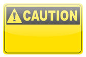 Blank yellow caution label sign — Stock Vector