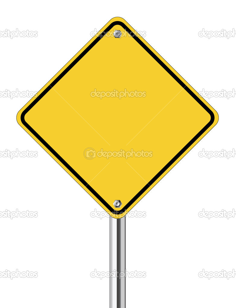 Blank yellow road sign stock vector pockygallery 11947005 for De signs