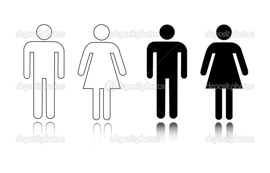 Ícone de banheiro masculino e feminino — Vetor de Stock © pockygallery #11947048 # Banheiro Feminino Vetor Free