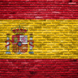 Royalty-Free Stock Photo: Spain flag painted on old brick wall