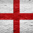 England flag painted on old brick wall - Stock Photo