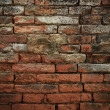 Fragment of an old and dirty brick wall — Stock Photo