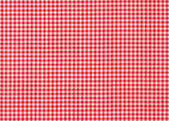 Red and white tablecloth picnic — Stock Photo
