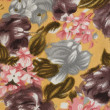 Floral Fabric Texture Background — Stock Photo