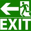Green exit emergency sign — Stock Vector #12034685