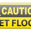 Royalty-Free Stock Vector Image: Wet floor caution