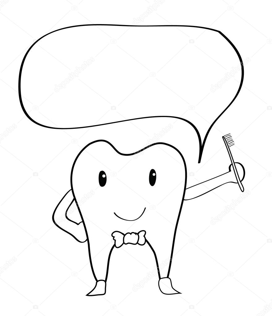 Cute Toothbrush Drawing drawing - Vector   Vector