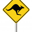 Kangaroo sign — Stock Vector #12127146