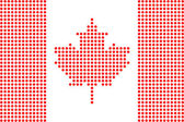 Dotted canada flag — Stock Vector