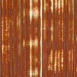 Close up of corrugated metal with rust — Stock Photo