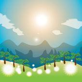 Summer landscape — Stock Vector