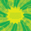 Green yellow abstract background - Stock Vector