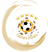 Soccer ball vector abstract illustration — Stock Vector