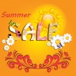 Stock Vector: colorful summer sale template