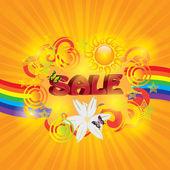 Renkli yaz Satılık şablonu — Stok Vektör