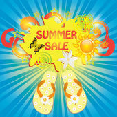 Colorful summer sale template — Stock Vector