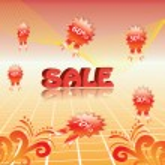 3d Summer sale template — Stock Vector