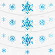 Modern winter message snowflakes set — Stock Vector