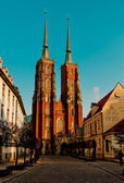 Cathedral wroclaw — Stock Photo