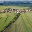 Aerial view of village landscape — Stock Photo