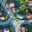 Stock Photo: Aerial view of city suburbs
