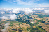 Aerial view of village landscape — Stock fotografie