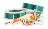 Fishing equipment — Stockfoto