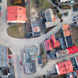 Stock Photo: Aerial view of Opole city suburbs