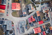 Aerial view of Opole city suburbs — Stock fotografie