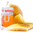 Honey jar — Stock Photo #11564066