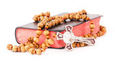 Rosary and book — Stock Photo