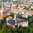 Aerial view of Opole city center , Poland — Stock Photo
