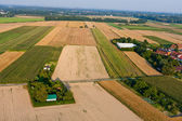 Aerial view of rural landscape — Stock Photo