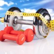 Stock Photo: Fitness equipment
