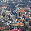 Aerial view of Opole city in Poland — Stock Photo