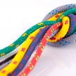 Stock Photo: Colorfull rope knot