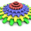 3d cog wheels — Stock Photo