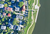Aerial view of opole city suburbs — Stockfoto