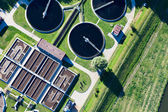 Aerial view of Opole city sewage treatment plant — Stock fotografie