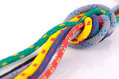Colorfull rope knot — Stock Photo